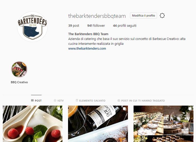 barbecuecatering - Marco Agostini - Profilo Instagram thebarktenders