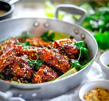 Chicken Wings al curacao e vaniglia
